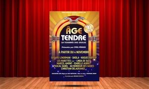 Alternative Grand Ouest: 1 place en catégorie1 ou Carre Or pour Age Tendre le 5 novembre à 15h et 20h dès 29 €