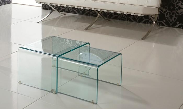 Tavolino da salotto shining legno laccato bianco interni stones