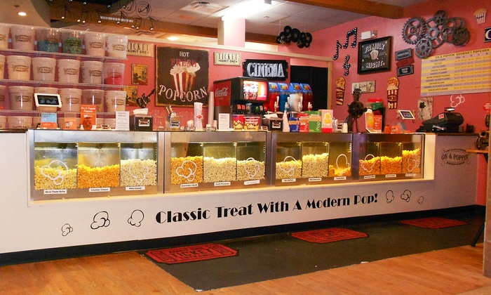 On & Poppin' East Coast Gourmet Popcorn Co. - Avenues: Gourmet Popcorn at On & Poppin' East Coast Gourmet Popcorn Co. (Up to 50% Off)
