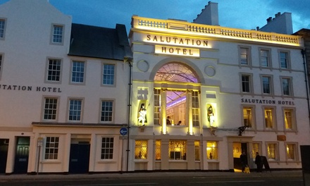 Central Perth: 1 or 2 Nights for Two with Breakfast, 3Course Carvery Dinner and Late CheckOut at The Salutation Hotel