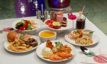 AYCE: Lunch + Soft Drinks ($16) or Dinner for 1 ($26) or Seafood Dinner + Wine for 1 ($32) or 5 Ppl ($160) at Buffet Lab