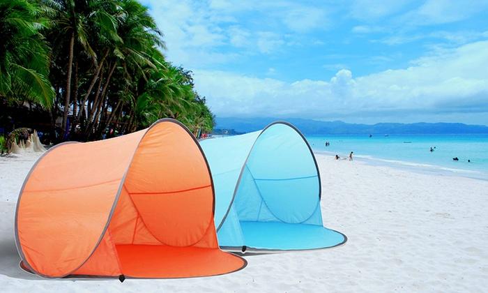 Sensual Sale $35 for an Auto Pop-Up Beach Sun Shade Tent ... & Auto Pop-Up Beach Sun Shade Tent | Groupon
