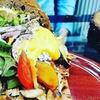 Kebab-Menü mit Pommes und Getränk