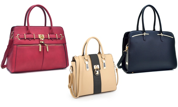 MMK Collection Women's Satchel with Shoulder Strap