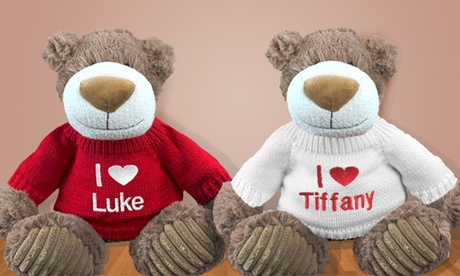 "Custom ""I Love You"" 12"" Embroidered Bear from 800Bear. com (47% Off) 64ad9559-846f-4c01-92f0-e225e5a7dd65"