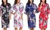 1x oder 2x Morgenmantel im Kimono-Design in der Farbe nach Wahl