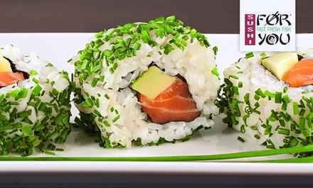 Wertgutschein über 15 € oder 30 € anrechenbar auf Sushi, Suppen, Beilagen und Hausdesserts bei Sushi for You