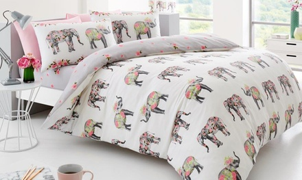 Exotic Animals Reversible Duvet Set
