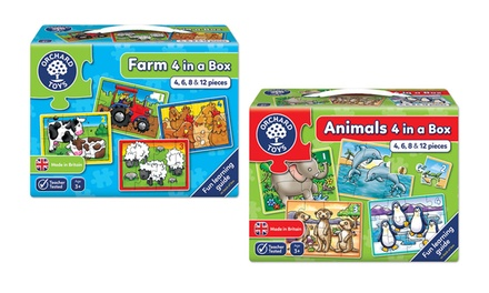 One or Two Orchard Toys FourinaBox Puzzles