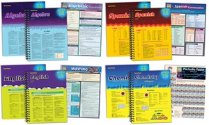 QuickStudy Algebra, Chemistry, English, or Spanish Study Pack (3-Pack)