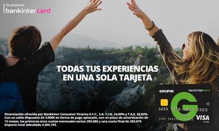 Tarjeta Groupon Bankintercard, crédito Groupon por cada compra que hagas y 30€ de regalo la primera vez que la usas