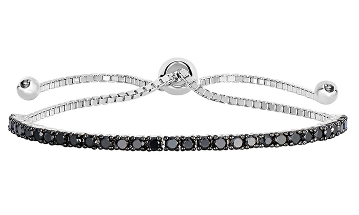 f on 1 50 CTTW Black Diamond Bracelet
