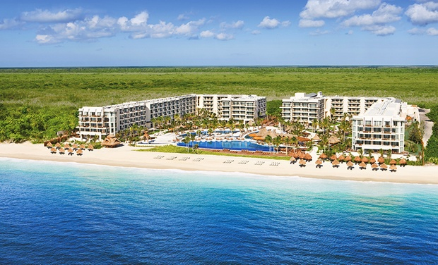 TripAlertz wants you to check out ✈ 4, 6, or 7 Night All-Inclusive Dreams Riviera Cancun Trip w/ Nonstop Air. Price per Person Based on Double Occupancy. ✈ All-Inclusive Dreams Riviera Cancun Trip w/Air from Vacation Express - All-Inclusive Mexico Vacation