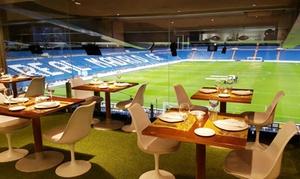 Real Café Bernabéu: Afterwork para 2, 4 o 6 personas con raciones o pizza a elegir y bebida desde 11 € en Real Café Bernabéu