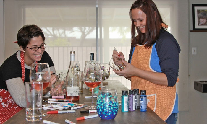 Designs Uncorked - Chandler: Two-Hour Create and Sip Session for Two or Four at Designs Uncorked (Up to 44% Off)