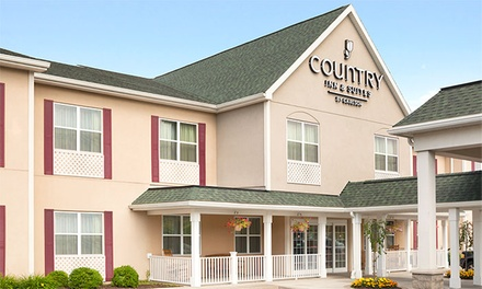 Stay at Country Inn & Suites Ithaca, NY. Dates into May.