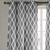 Ogee Patterned Triple Weave Room Darkening Grommet Panel Pair