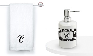 Monogram Online: Personalized Soap Dispenser, Custom-Embroidered Hand Towel, or Both from Monogram Online (Up to 67% Off)