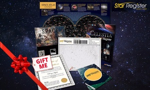 Star Register: Name a Star - Deluxe ($12) or Milkyway Package ($19) from Star Register (Up to $99 Value)