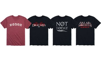 Mens Hodor, Not Today Thrones Finale Tees (S-3XL)