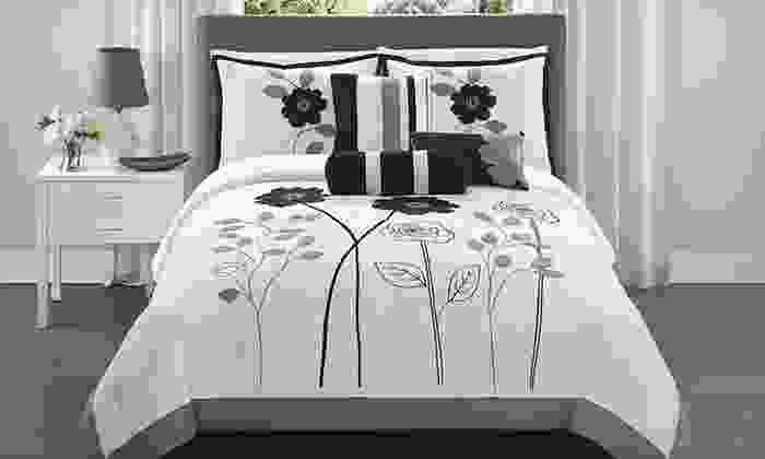 Adrienne Seven-Piece Comforter Sets: Adrienne Seven-Piece Comforter Sets in Queen or King (Up to 70% Off). Two Styles Available. Free Shipping and Returns.
