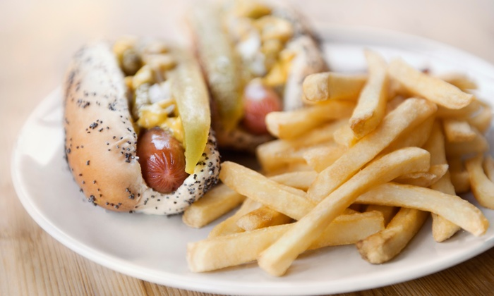 The Hot Grill - Lakeview: Two or Four Groupons, Each Good for a Texas Weiner and Fries at The Hot Grill (50% Off)