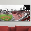 Touch of Color Panoramic Baseball Stadium Wrapped Canvas Prints