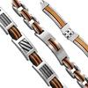Orange Resin Bracelets in Stainless Steel