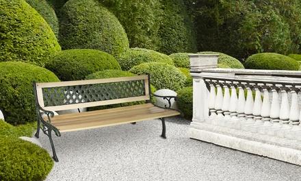 Copripanca in plastica o panchina da esterno in legno for Groupon arredo giardino