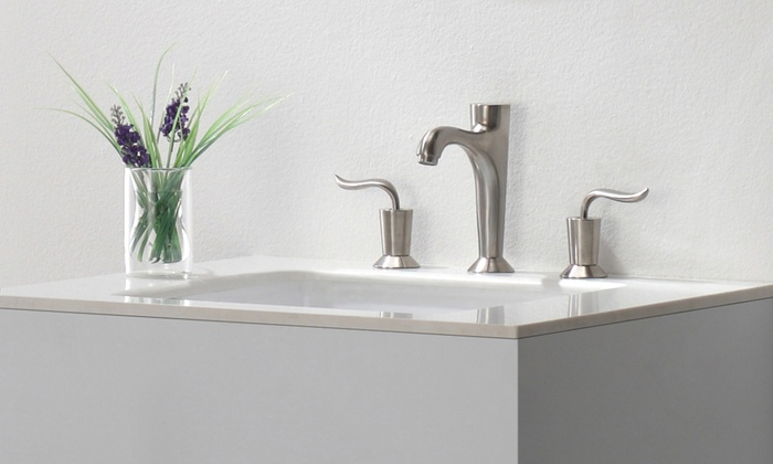 Brushed nickel bathroom faucets groupon goods for Discount bathroom faucets brushed nickel