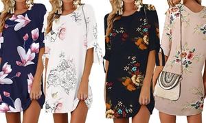 (Mode)  Robe casual légère imprimé fleurs -81% réduction