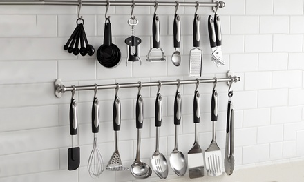 Vivo 25Piece Kitchen Utensil Set with Optional Hanging Bar and Hooks