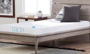 "Lucid 5"" Gel Memory Foam Mattress with Optional Frame"