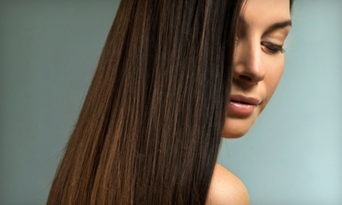 Green Apple Salon - Neartown/ Montrose: Haircut with Conditioning, Gloss, or Highlights, or a Keratin Treatment atGreen Apple Salon(Up to 63% Off)