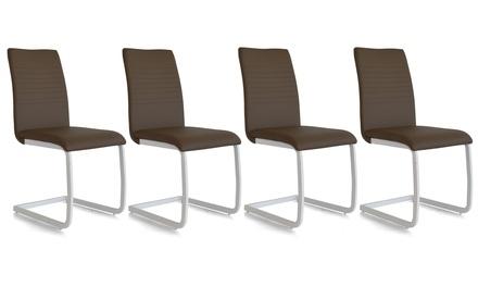 Set di 4 sedie Lounge