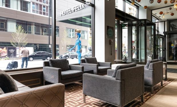 Hotel Felix Chicago: 4-Star Boutique Hotel in Chicago   Groupon Getaways