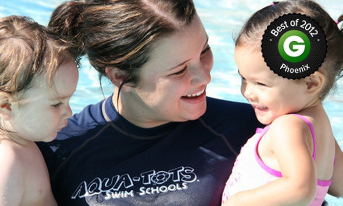 Aqua-Tots Swim School - Multiple Locations: $34 for One Month of Swim Lessons at Aqua-Tots Swim School (Up to $74 Value)