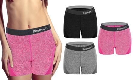 Set de 3 shorts deportivos para mujer Reebok con cintura alta