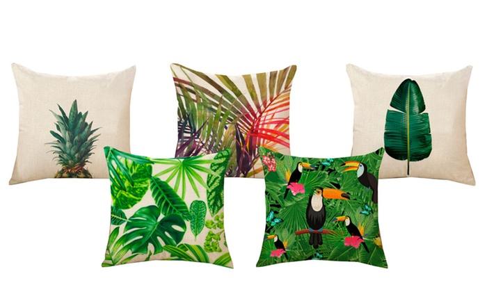 Federe Cuscini Design.Federe Cuscini Con Stampe Esotiche Groupon Goods