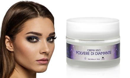 1 o 2 cremas faciales con polvo de diamante puro con vitamina E y Syn-Ake de Efory Cosmetics