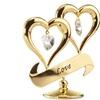 Matashi Crystal Love Double Heart Ornament