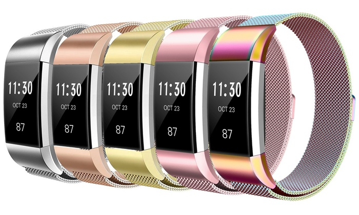 Up To 40% Off on Fitbit Charge 2 Mesh Band | Groupon Goods