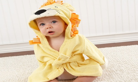 animal hooded baby bath robes groupon goods. Black Bedroom Furniture Sets. Home Design Ideas