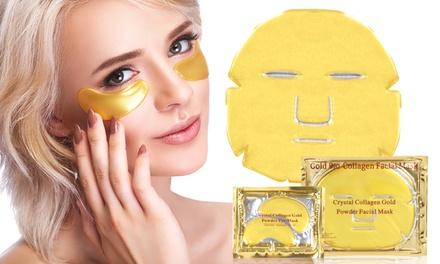 Gesichtsmasken und/oder Augen-Pads mit Kollagen und Gold (24 Karat)