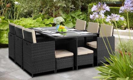 Conjunto de muebles de 9 o 11 piezas para jardín