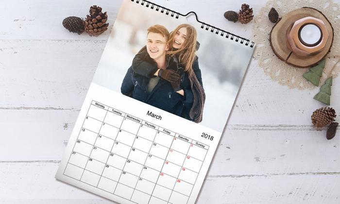 personalised a3 wall calendar printerpix groupon