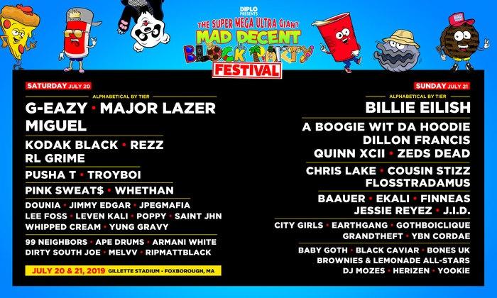 Billie Eilish, G-Eazy, Miguel - Mad Decent Block Party