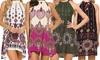 Boho Sleeveless Mini Dress
