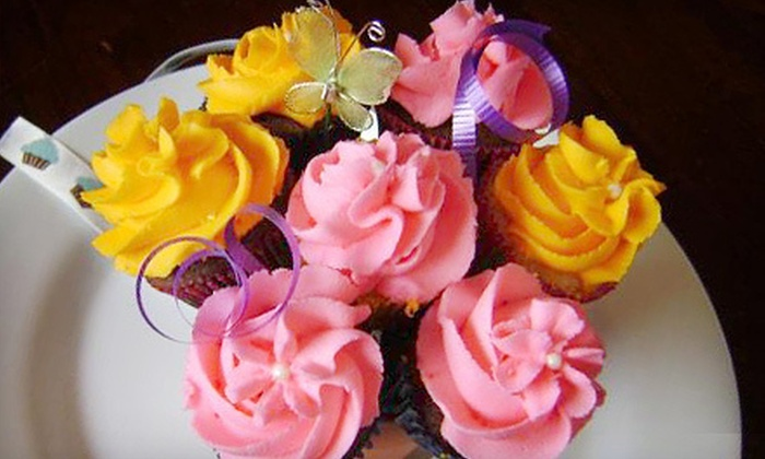 Erin's Sweets 'N' Things - Dartmouth Centre: Mini or Large Cupcake Bouquet from Erin's Sweets 'N' Things (Up to 53% Off)