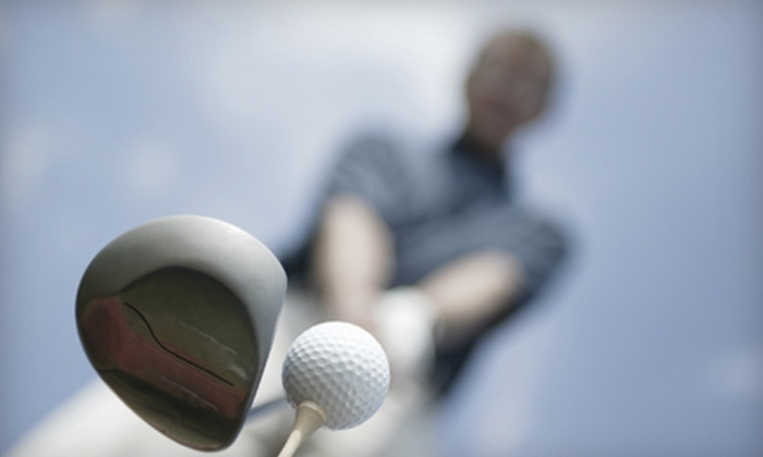 Sunset Golf Center - Five Oaks: $15 for a Golf Package for Two at Sunset Golf Center in Beaverton (Up to $30 Value)